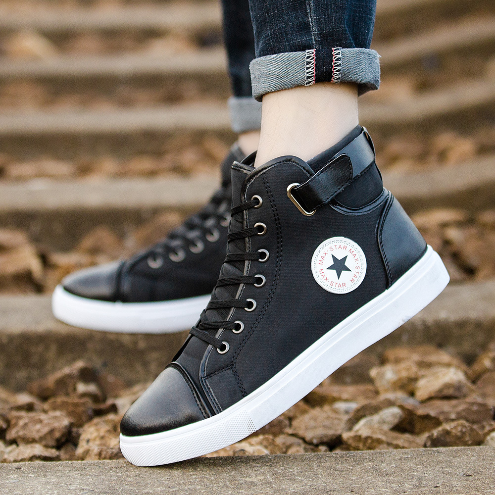 European comfortable Patchwork men boots 2018 Leisure fashionable shoes man high quality casual classic men sneakers цена и фото