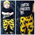 Bebé recién nacido Niños Niños de Manga Corta Camiseta Tops + Shorts Pantalones Batman 2 unids Ropa Trajes Set