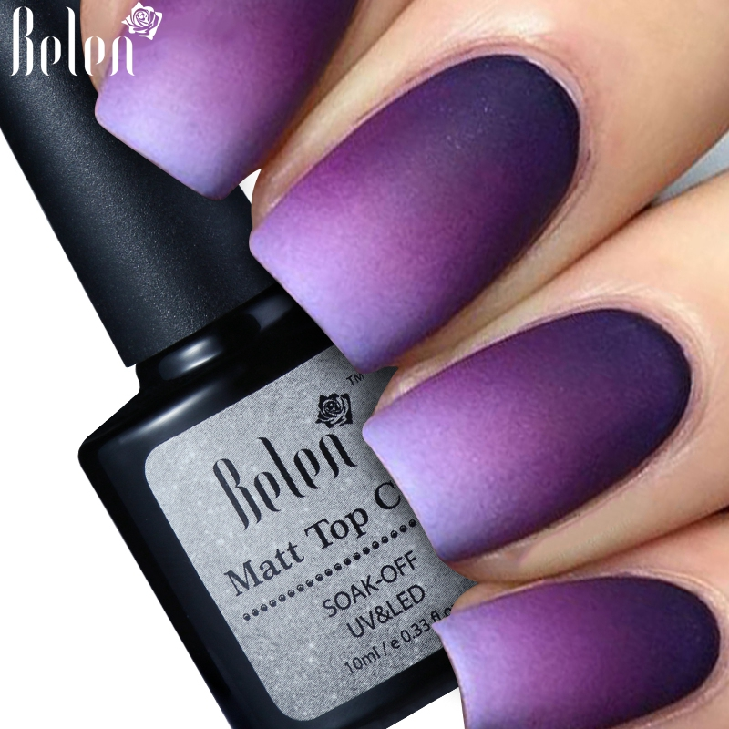 Matte Nail Polish Online: Belen 10ml Cleaning Matt Top Coat Matt Lacquer Gel Nail Polish
