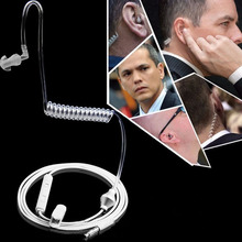 אוניברסלי רך 3.5mm אוויר צינור באוזן מונו אלסטי גמיש טלפון אוזניות קרינה אנטי מרגלים אפרכסת עם מיקרופון