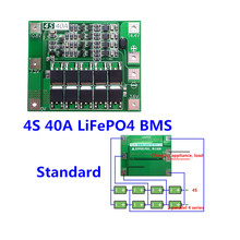 4S 40A Standard Version 12.8V 14.4V 18650 LiFePO4 lithium iron  battery protection board /BMS Board