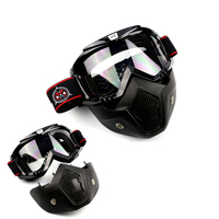 Open Face Helmet Motorcycle Glasses Sunglasses Mask Detachable Goggle UV Protection Moto Ski Bike Motocross Goggles For Halley