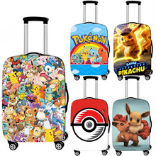 cartoon pokemon pikachu / Bulbasaur / EEVEE luggage cover for travel bag elastic trolley case cover baggage suitcase covers(China)