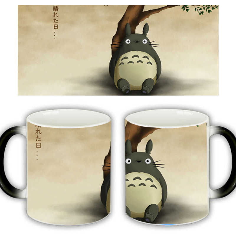 Useber New Anime Style Lovely Style Miyazaki Totoro A Grade Ceramic Cup Discoloration Mugs 6 Kinds