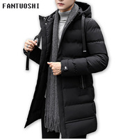 2018 Autumn Winter Men's Long Jacket Parkas Men Warm Casual Parka Coat Medium Long WaterProof Thickening Hat Jacket Parka Men