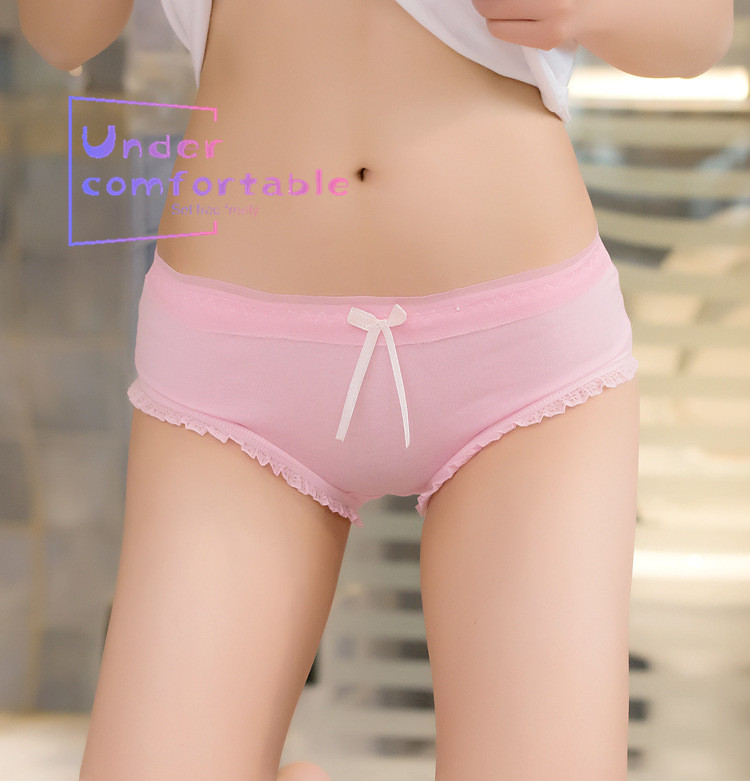 2019 Summer Candy Color Lace Edge Kawaii Women Underwear 100 Cotton Lady Panties Comfortable Intimates Lovely Girl Briefs in women 39 s panties from Underwear amp Sleepwears