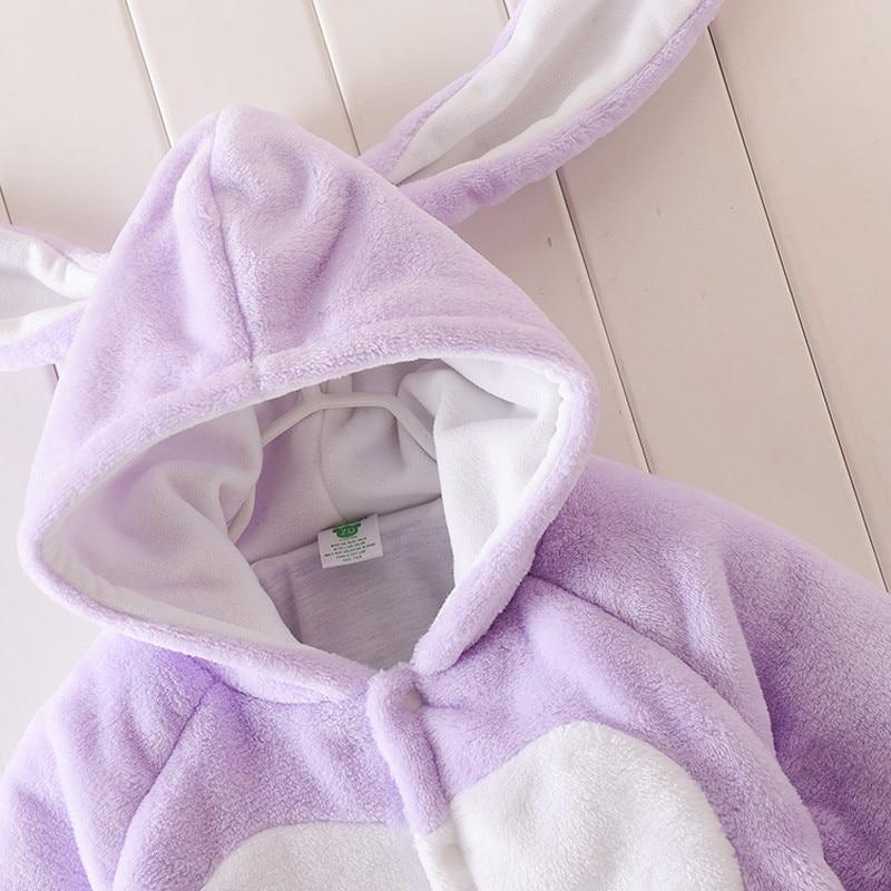 8d713bc0d0ca Super Warm Baby Clothes Boys Girls Animal Hooded Romper Newborn Baby ...