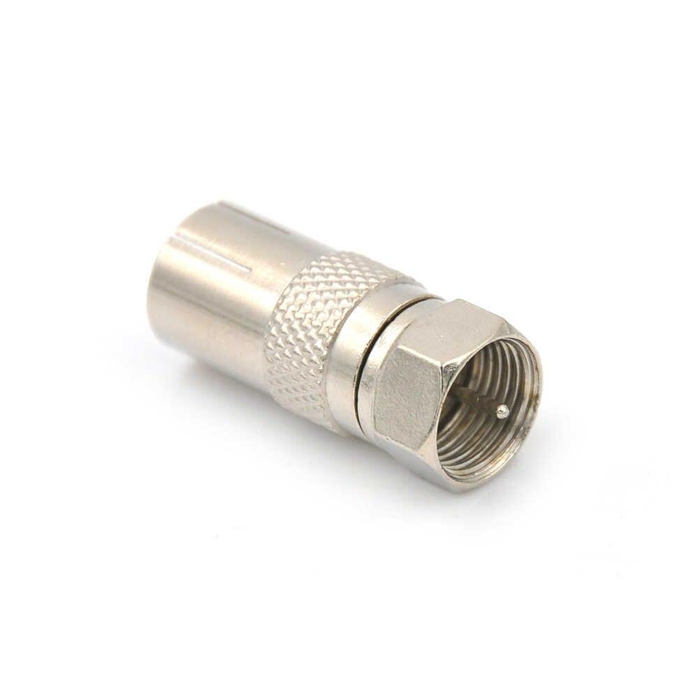 1pc F Type mâle prise adaptateur connecteur convertisseur Durable à Coaxial femelle prise en alliage de Zinc pour Satellite TV DVR connecteur Coaxial