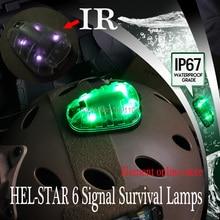 אלמנט הל כוכבים 6 אות ירוק & IR או אדום & IR אור עם קלטת קסם טקטי קסדת הישרדות מנורות (EX433)