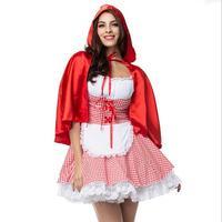 בתוספת גודל S M L XL XXL XXXL 4XL 5XL 6XL תלבושות ליטל מבוגרים כיפה אדום תלבושות ליל כל הקדושים Cosplay לנשים 2017