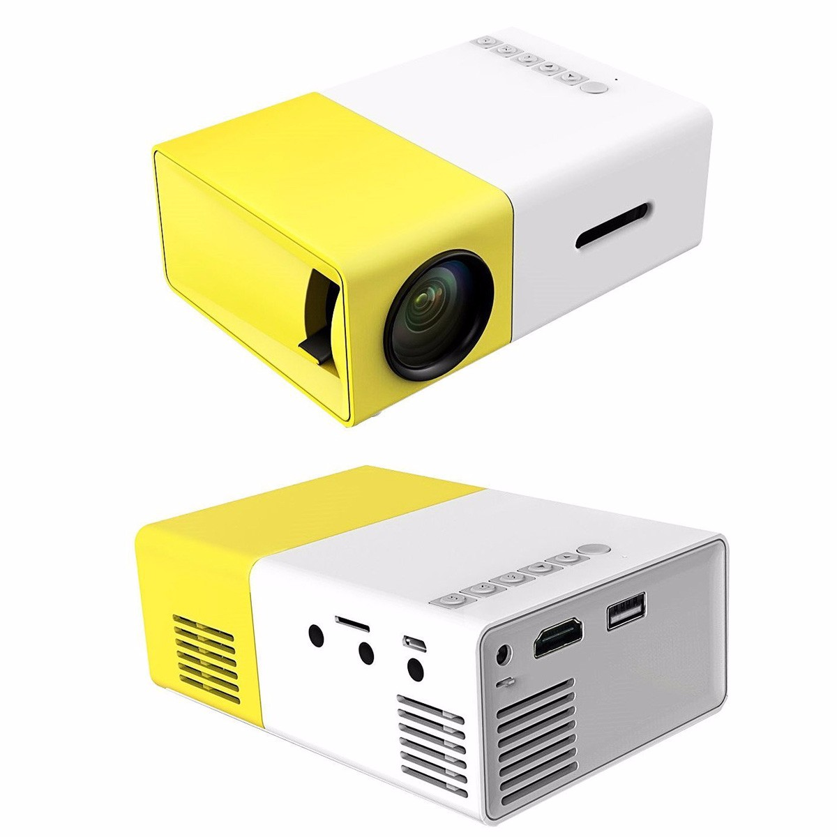 New yg300 1080p led portable projector 400 600lm for Latest pocket projector