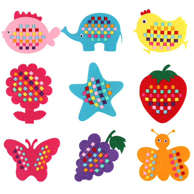 EVA Handicrafts Toys For Children DIY Fruits Animals Cartoon Handmade Craft Puzzle Paper Tray Painting Backpack