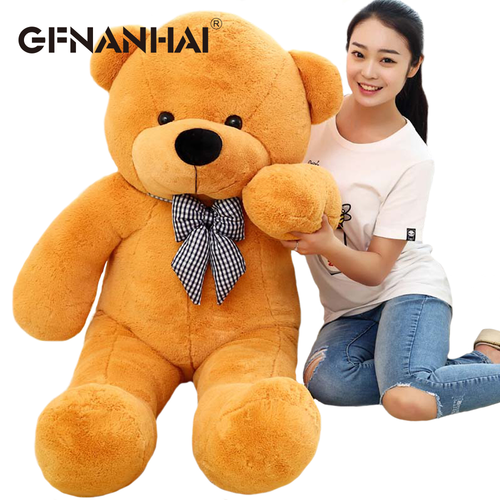 Image 2 - 1pc 80/100cm Cute Teddy bear plush toy stuffed soft bear animal plush pillow for kids girlfriend birthday Valentines giftStuffed & Plush Animals   -
