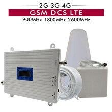 2G 3g 4G трехдиапазонный усилитель сигнала GSM 900 + DCS/LTE 1800 + FDD LTE 2600 мобильный телефон повторитель сигнала Сотовый телефон Сотовый усилитель