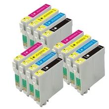 12 COMPATIBLE 711-714 , 715XL INK CARTRIDGES FOR STYLUS DX 4000 DX 4050 DX4400 DX4450 DX 5000 DX5050 PRINTER