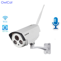 OwlCat Home Security IP Camera Wifi Wireless Wireless Bullet IP Camera HD 1080P 2MP With Audio