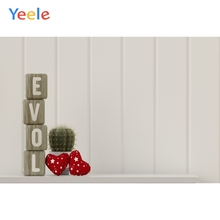 Yeele Wedding Party Photocall Hearts Ins Wood Love Photography Backdrops Personalized Photographic Backgrounds For Photo Studio