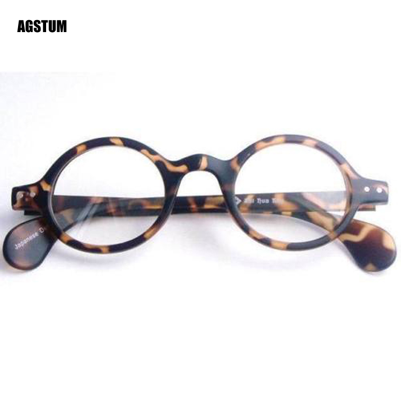 3aef26fb0f Agstum Vintage Retro Round Amber Leopard Eyeglass Frame Reading Glasses  +1.0 +2.0 +3.0