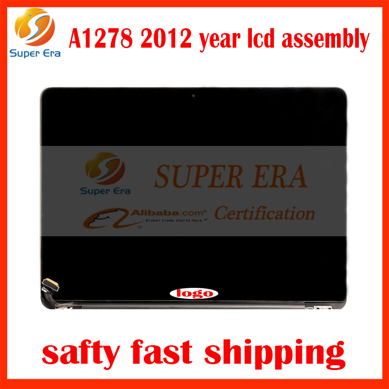 perfect testing Original quality Laptop LCD Screen Assembly For Apple Macbook Pro 13'' A1278 LED LVD LCD Assembly 2011 2012 Year original grey silver laptop a1706 lcd assembly 2016 year for macbook pro retina 13 inch a1706 lcd screen assembly replacement