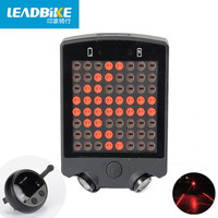 Leadbike 2016 64 LED Laser Bicycle Rear Tail Light USB Rechargeable With Wireless Remote Bike Turn
