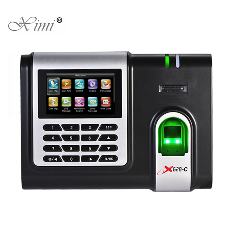 Fingerprint Time Attendance Terminal TCP/IP USB RS232/485 Biometric Fingerprint Time Recorder ZK X628-C Fingerprint Time Clock