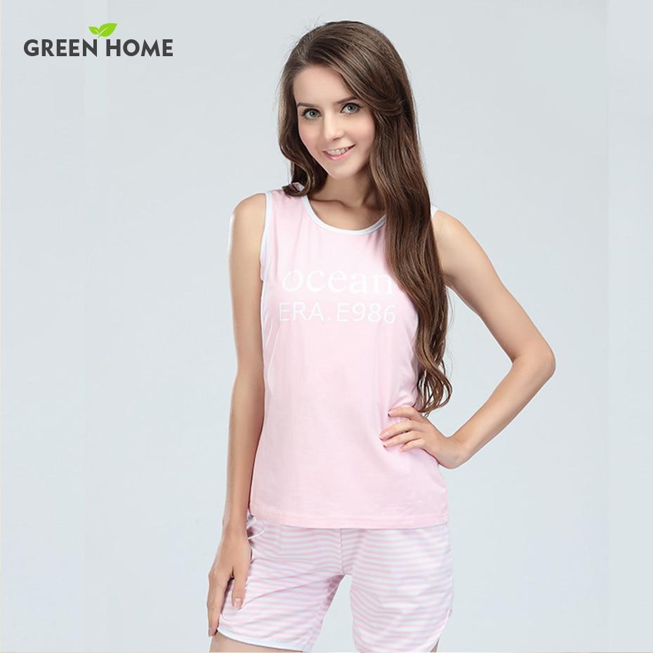 Hot Bear Maternity Sleepwear Sleeveless Cool Short Pant Sets Green Home Summer home Wear Breastfeeding clothes Pajamas Sets