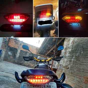 Luz Trasera De Señal De Giro LED Para Motocicleta Urbana Road Con Freno Trasero Integrado