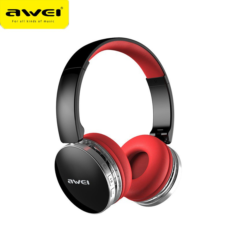 Awei A500BL wireless headphones bluetooth Sport headset with Mic noise reduction foldable hi-fi Stereo extra bass Waterproof стоимость