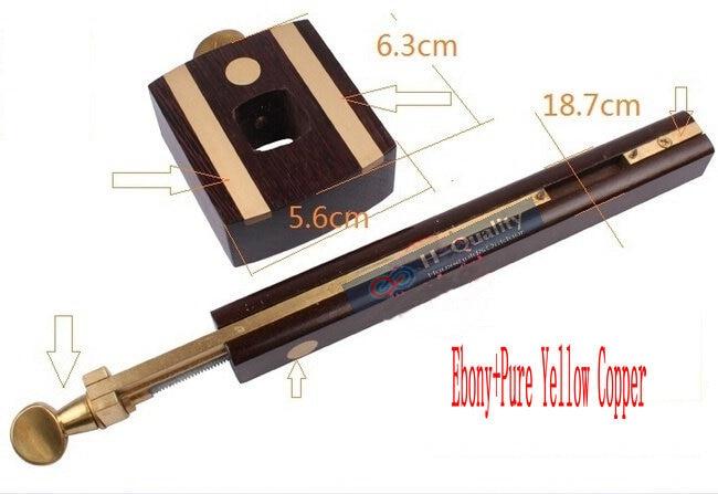 Роскошный Британский индонезийский эбеновый+ Чистая медь износостойкий плотник деревообрабатывающий инструмент 8 дюймов винтовой режущий Калибр скребок маркировки Scribers