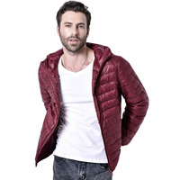 New 2018 Men Winter Coats Feather Jacket Men Ultralight Cotton padded jacket With A Hood Parka Homme 90hfx