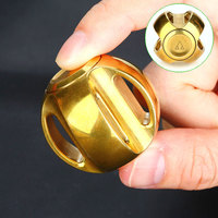 New Globe Hand Spinner Pure Brass Gold Color Fidget Spinner Ball Pattern EDC Finger Gyro Spinner