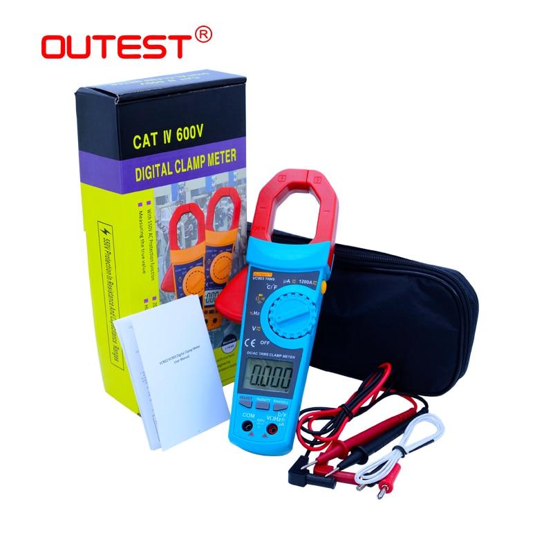 Digital Multimeter VC903 Portable Digital Clamp Meter 6000 Counts 1000A AC Clamp Meter Resistance Capacitance Temperature