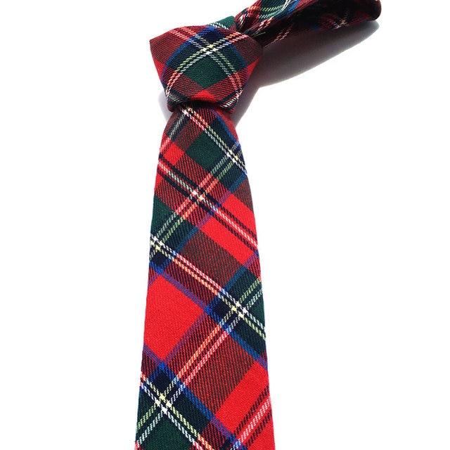 high quality 2016 classic plaid 5.5cm mens cotton tie blue green (1 pieces/lot) wholesale neckties
