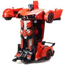 Electric RC Car Transformation Robots Remote Control Deformation Car Hand Interaction Rechargeable Sports Car Toys For Children(China)
