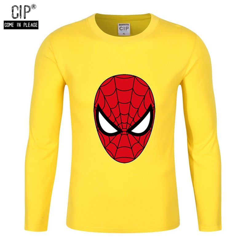 c1fb7dee7 100% cotton spiderman costume long sleeve shirts and t-shirts for boys  funny superhero t shirts for boys sweater pullovers kids