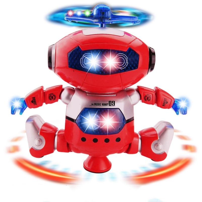 Christmas Robot Toys : Rotating dancer robot toy musical walk lighten