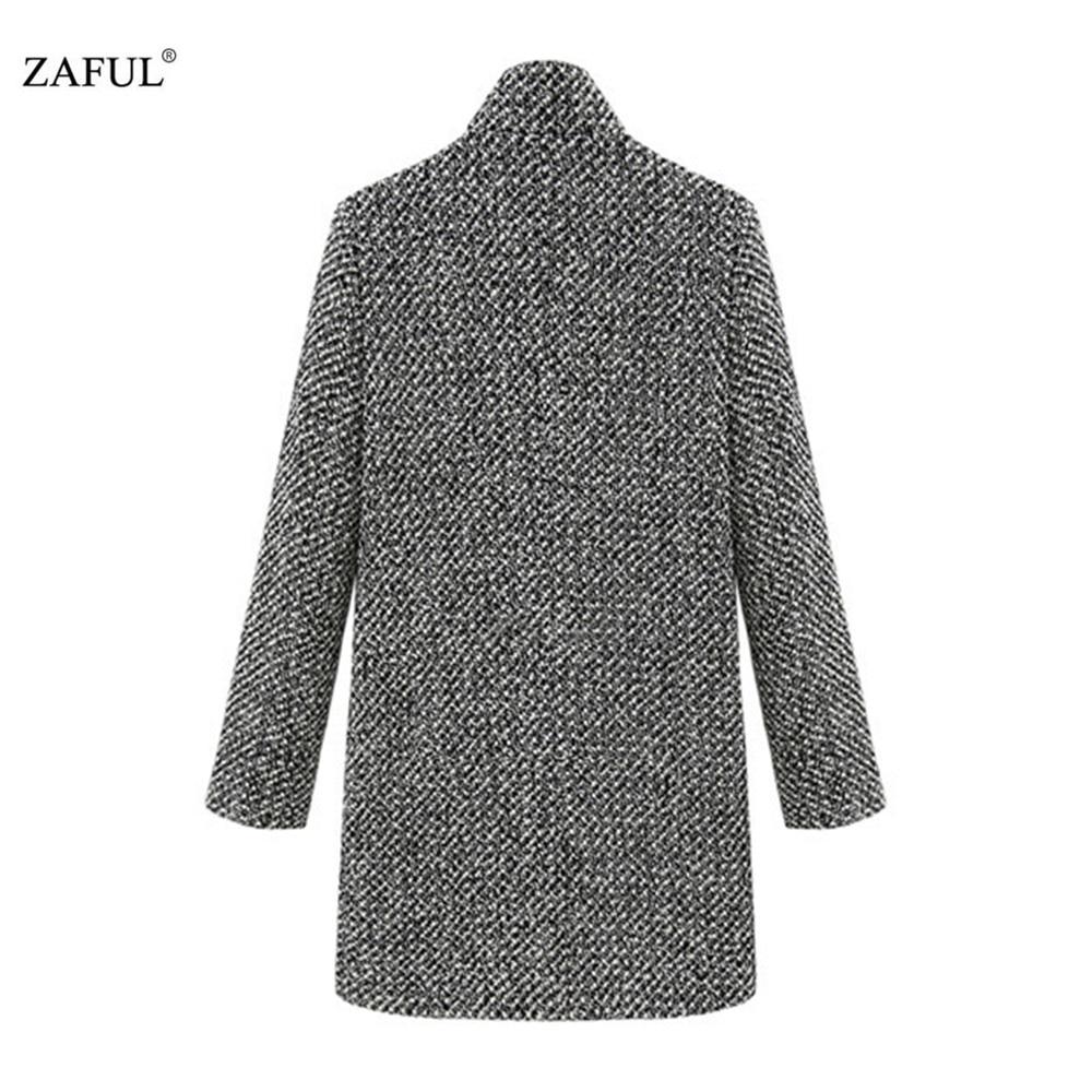 ZAFUL Новый Большие Размеры Элегантные женские осенние куртки пальто серый теплый Хлопковый тренч Дамы бархат утепленная куртка длинное пальто