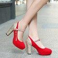 Блестки На Высоком Каблуке Красный Свадебные Туфли Платформа Невесты Обувь Для Женщин Размер 41 42 43 32 33 sy-1725