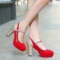 Lantejoulas Platfrom salto Alto-Sapatos de Salto Alto de Casamento Vermelho Sapatos de Noiva sapatos Para Mulheres Tamanho 41 42 43 32 33 sy-1725