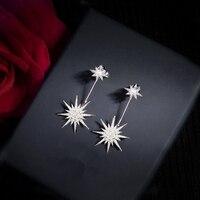 BFQ Fashion star zirconia lange oorbellen voor vrouwen gorgeous party dangle oorbellen grote oorbellen orecchini pendientes largos