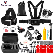 SnowHu For Gopro Hero Y89 Accessories Chest band Survival tube Bag fixture Trochal disk For Go pro hero 6 5 4 EKEN H9 xiaomi yi