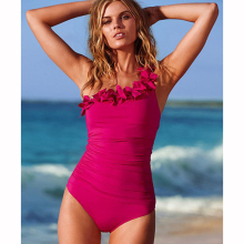One Shoulder Ruffle Monokini