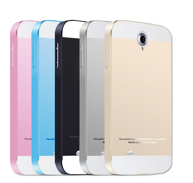 2015 Hot For Lenovo A850 Metal Case Acrylic Back Cover & Aluminum Frame Set Phone Bag Cases for Lenovo A850T A850