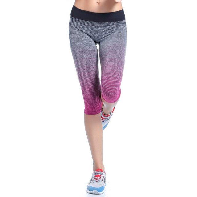 Elastic Fitness Capri Women's Leggings