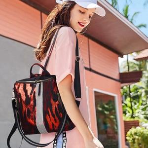 Image 5 - Animal Prints Backpack Women 2020 School Bags for Teenage Girls Vintage Diamonds Bagpack Large Capacity Travel Backpack XA445H