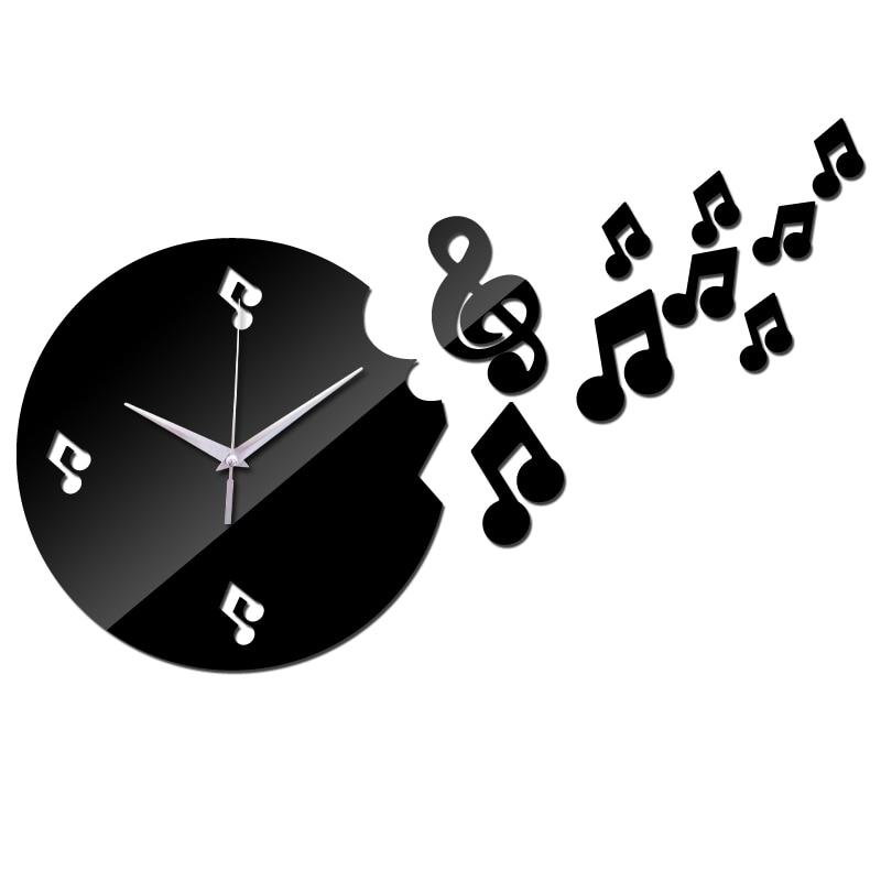 b2595f472 بيع جديد Diy 3d الاكريليك ساعة حائط الساعات Reloj دي باريد ووتش كوارتز  شرفة/فناء هندسية إبرة الحديثة