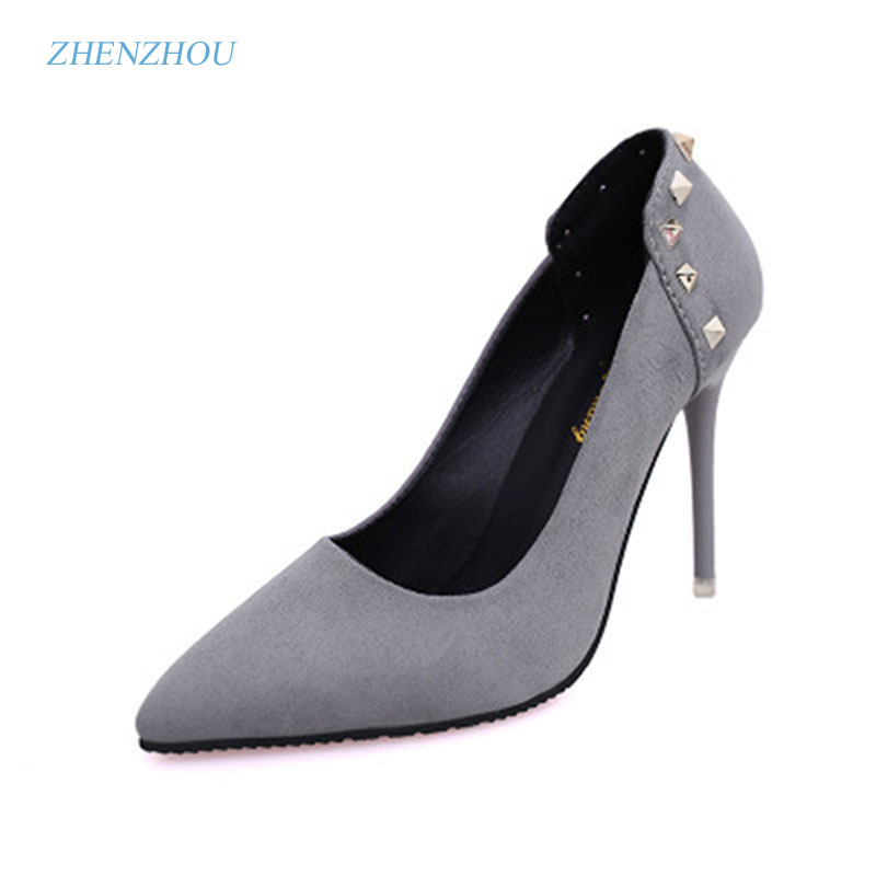 zhen zhou 2017 spring and autumn women's new fashion trend leadership low heel The shallow mouth pointed exemption from postage