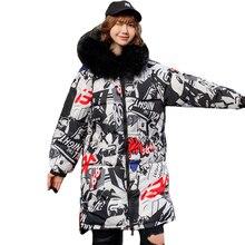ダブル両側2019新冬のジャケットの女性フード付き厚みの毛皮女性ロング暖かい生き抜く特大コート
