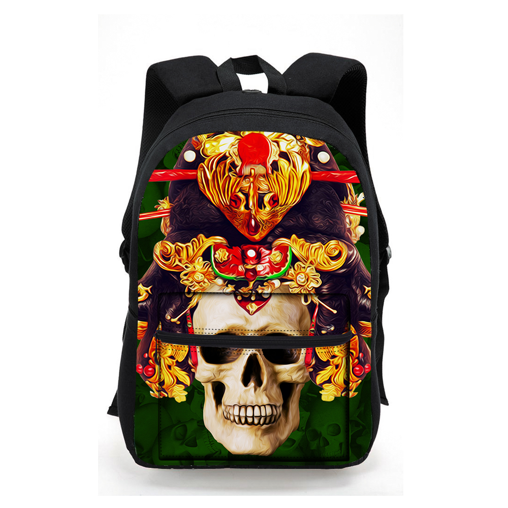 Fashion Canvas Backpack high-capacity youngsterschool bag 3D Skull print casual laptop bag men women Casual tavel Backbag