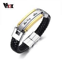 Vnox Son Roi Sa Reine Couple Bracelets Amant Couronne Charme Bracelet En Cuir pour Femmes Hommes Promesse Cadeau Bijoux 8.8